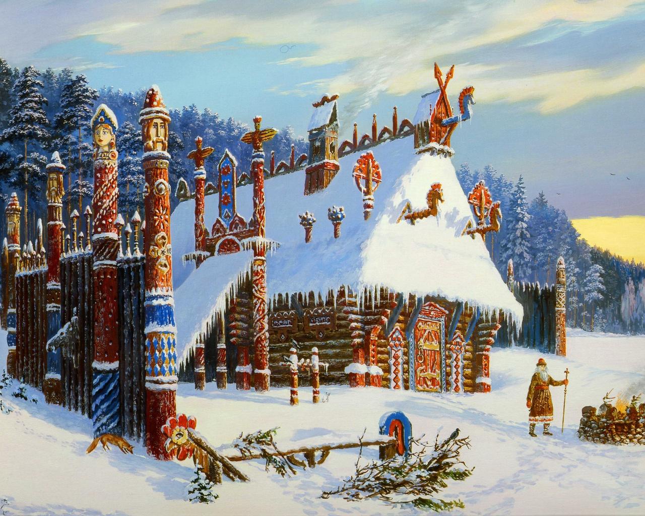 Зимняя сказочная Русь